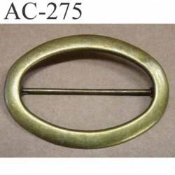 boucle etrier ovale en métal façon laiton patiné style ancien largeur 101 mm hauteur 70 mm