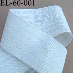 élastique plat fronceur ou à froncer ou à smock largeur 60 mm couleur blanc très doux très belle qualité prix au mètre