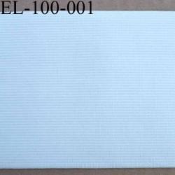 élastique plat très belle qualité couleur blanc largeur 100 mm  souple et doux très agréable au touché prix au mètre