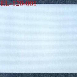 élastique plat très belle qualité couleur blanc largeur 120 mm  souple et doux très agréable au toucher prix au mètre