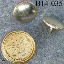 Bouton  pour jeans 14 mm en métal  zingué couleur doré or avec le clou très facile à posé 14 millimètre
