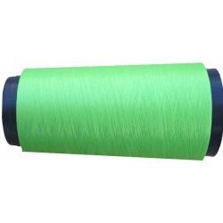 Cone de fil mousse polyamide fil n°160 couleur vert fluo longueur du cone 1000 mètres bobiné en France