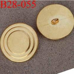 bouton métal 28 mm en mètal couleur doré or accroche avec un anneau