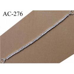 bretelle de soutien gorge lingerie nuisette robe rétractable longueur 30 cm largeur des anneaux 10 mm strass style diamant