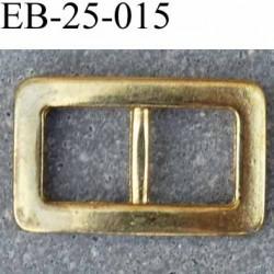 Boucle etrier rectangle fixe métal brillant doré patiné par endroit largeur extérieur 2.6cm largeur intérieur 9 mm par 9 mm