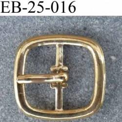 Boucle étrier carré arrondi métal brillant doré largeur extérieur 2.5cm largeur intérieur 16 mm hauteur 23 mm