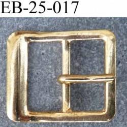 déstockage Boucle étrier rectangle ardillon métal brillant doré largeur extérieur 2.5cm largeur intérieur 16 mm hauteur 20 mm