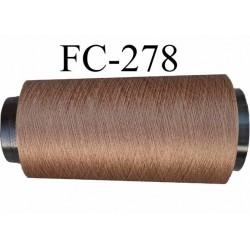 Cone de fil très résistant n° 35 polyester continu marron brillant superbe très solide longueur 2000 mètres bobiné en France