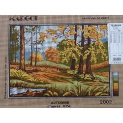 canevas 30X40 marque MARGOT CREATION DE PARIS thème automne dimennsion 30 centimètres par 40 centimètres 100 % coton