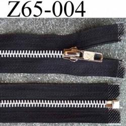 fermeture zip à glissière longueur 65 cm couleur noir séparable zip métal largeur 3 cm largeur du zip 6 mm