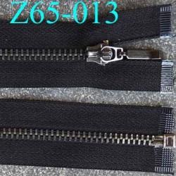 fermeture zip noir largeur 2.8 cm longueur 65 cm  séparable largeur de la glissière acier en nickel 5 mm curseur en métal
