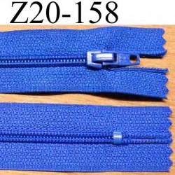 fermeture zip de marque à glissière longueur 20 cm couleur bleu non séparable largeur 2.5 cm glissière nylon largeur du zip 4 mm