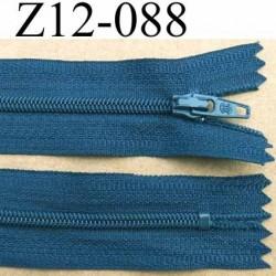 fermeture zip à glissière longueur 12 cm couleur bleu non séparable largeur 2.6 cm glissière nylon largeur du zip 4 mm