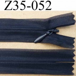 fermeture zip invisible longueur 35 cm couleur bleu anthracite non séparable largeur 2.4 cm glissière nylon largeur 4 mm