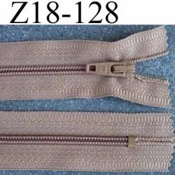fermeture zip à glissière longueur 18 cm couleur marron clair non séparable largeur 2.6 cm glissière nylon largeur du zip 4 mm