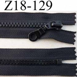 fermeture zip moulé à glissière longueur 18 largeur 3 cm couleur noir non séparable  largeur de la glissière moulé nylon  6 mm