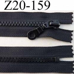 fermeture zip moulé à glissière longueur 20 largeur 3 cm couleur noir non séparable  largeur de la glissière moulé nylon  6 mm