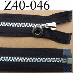 fermeture zip noir largeur 3.2 cm longueur 40 cm  séparable  glissière nylon moulé reflets couleur arc en ciel 6 mm