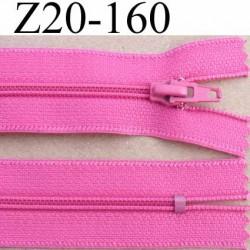 fermeture zip de marque à glissière longueur 20 cm couleur rose non séparable largeur 2.5 cm glissière nylon largeur  zip 4.2 mm