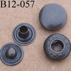 bouton pression métal nickel couleur laiton bronze foncé diamètre 12 mm ensemble de 4 pièces par bouton