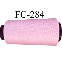 Cone ( Economique ) de fil  polyester  fil n°120 couleur rose longueur du cone 1000 mètres fabriqué en France très bon fil