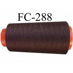 Cone ( Economique) de fil  polyester  fil n°120 couleur marron longueur 1000 mètres fabriqué en France fil de très bonne qualité