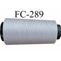 Cone ( Economique ) de fil  polyester  fil n°120 couleur gris longueur 1000 mètres bobiné en France fil de très bonne qualité