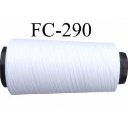 Cone ( Economique ) de fil  polyester  fil n°120 couleur blanc longueur 1000 mètres bobiné en France fil de très bonne qualité