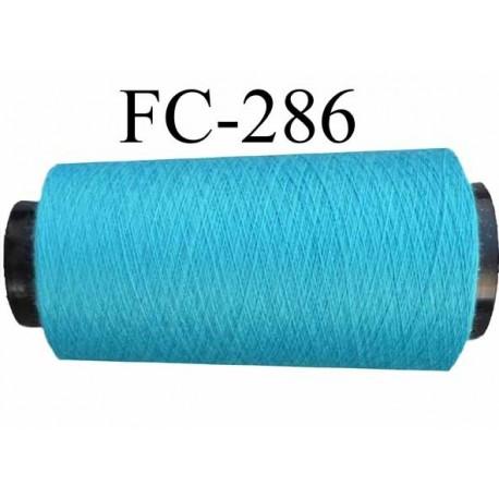 Cone ( Economique ) de fil  polyester  fil n°120 couleur bleu longueur 2000 mètres bobiné en France fil de très bonne qualité