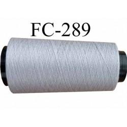 Cone ( Economique) de fil polyester  fil n°120 couleur gris longueur 2000 mètres fabriqué en France fil de très bonne qualité