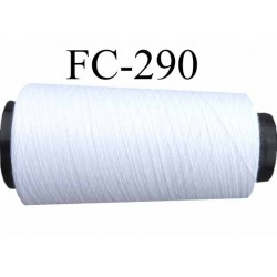 Cone ( Economique) de fil polyester  fil n°120 couleur blanc longueur 5000 mètres bobiné en France fil de très bonne qualité