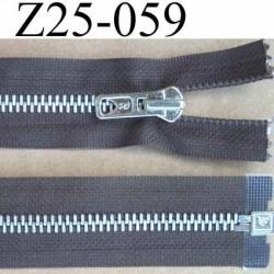 fermeture zip à glissière longueur 25 cm couleur marron taupe séparable zip métal largeur 3 cm largeur glissière 6 mm