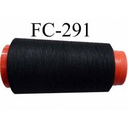 CONE de fil mousse polyamide fil fin n° 180 couleur noir  longueur de 5000 mètres bobiné en France