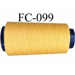 Cone de fil polyester fil n°120 couleur jaune longueur du cone 1000 mètres bobiné en France