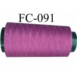 Cone de fil polyester fil n°120 couleur violet longueur du cone 2000 mètres fabriqué en France
