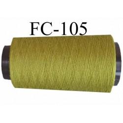 CONE 2000 m fil Polyester Coats épic fil n°120 couleur vert longueur 2000 m bobiné en France résistance à la cassure 1000 grs