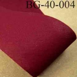 biais ruban galon a plat à plier en coton couleur rouge bordeau largeur 4 cm vendue au mètre