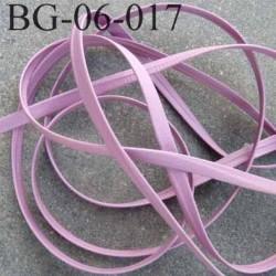 galon biais ruban à plat  façon ou simili cuir largeur 6 mm couleur parme prix au mètre