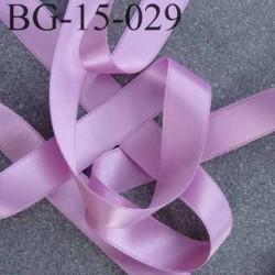 biais galon ruban satin couleur parme lilas violine brillant lumineux double face très solide largeur 15 mm prix au mètre
