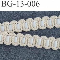 biais galon ruban en coton et satin couleur écru et blanc cassé largeur 13 mm arrive d'une vieille mercerie prix au mètre