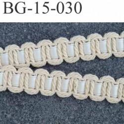 biais galon ruban en coton et satin couleur écru et blanc cassé largeur 15 mm arrive d'une vieille mercerie prix au mètre