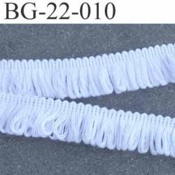 biais galon ruban à frange bouclé couleur blanc largeur 22 mm 50 % coton 50 % acrylique prix au mètre