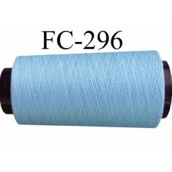 Cone de fil  polyester  fil n°120 couleur bleu longueur du cone 1000 mètres fabriqué en France