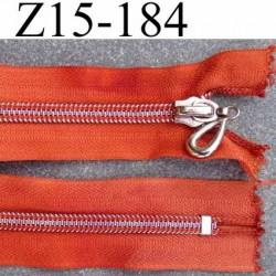 ( 2ém choix déstockage ) fermeture zip longueur 15 cm couleur orange non séparable largeur 3.3 cm largeur du zip 6 mm