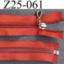 ( 2ém choix déstockage ) fermeture zip longueur 25 cm couleur orange séparable largeur 3.3 cm largeur du zip 6 mm