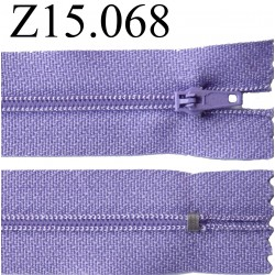 fermeture éclair 15 cm couleur violet  zip nylon non séparable