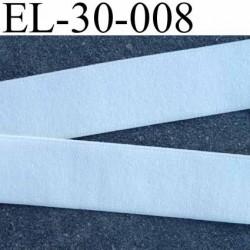 élastique plat style ou façon velour fin largeur 30 mm couleur écru souple et doux élasticité 200 % prix au mètre