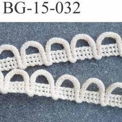 biais  coton galon boutonnière légèrement élastiqué couleur écru largeur 15 mm arrive d'une vieille mercerie prix au mètre