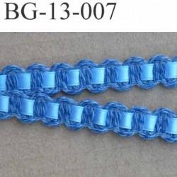 biais galon ruban coton et satin couleur bleu largeur 13 mm arrive  prix au mètre