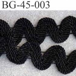 gallon ruban serpentine superbe élastiqué couleur noir largeur 45 mm épaisseur 4 mm prix au mètre